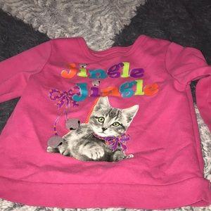 Other - Pink cat sweatshirt